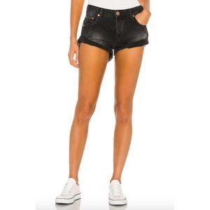 one teaspoon low rise bandits distress jean shorts